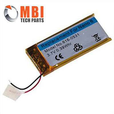New Replacement Rechargeable Battery for Apple iPod Nano 6th Generation