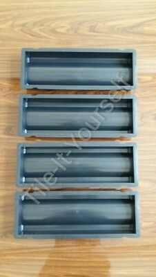 *Set Of 4* Drainage Channel Plastic Concrete Paving Mould Slab Stone Paving