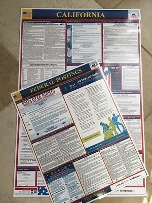 Osha4less Labor Law Poster -State and Federal,California(CA-CB) NEW 2018 $13.00