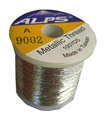 Alps 100yds of Metallic Silver Rod Wrapping Thread-Size A (0.15mm) Thread