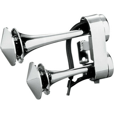 Rivco Chrome Air Horn Multi Fit/ Universal Frame Mount for Harley Motorcycles