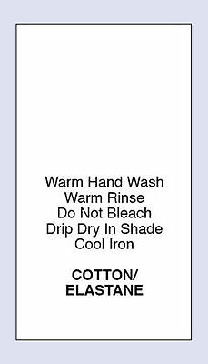 Cotton /Elastane Sewing Washing Care Labes  4 Pack Sizes Code PRNT0008