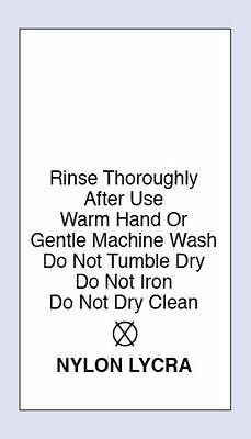 Nylon / Lycra Care Sewing Washing Care Labels 4 Pack Sizes Code PRNT0092