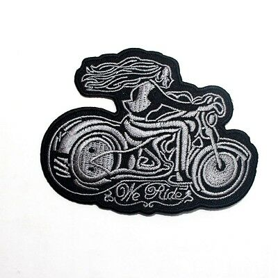 Lady Rider Chopper Harley Biker Motorcycle Racing Jacket T-Shirt Iron on Patch