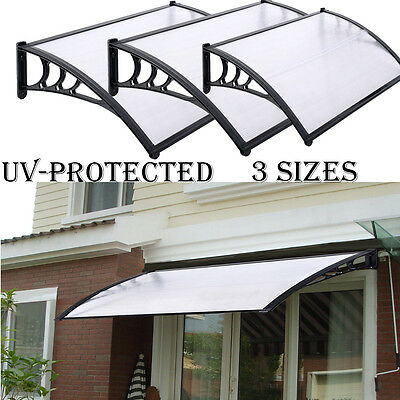 Door Patio Canopy Awning Shelter Front And Back Door Porch Awning Polycarbonate