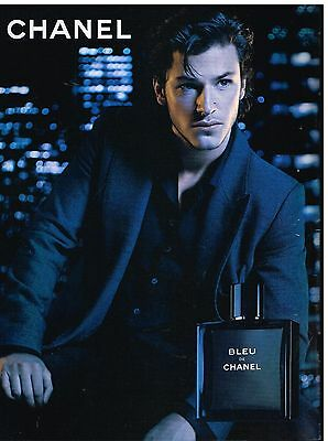 Publicité Advertising 2014 Parfum Bleu de Chanel