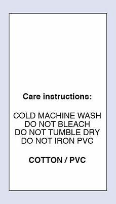 Cotton /PVC Cold Machine Wash Sewing Washing Care Labels 4 Pack Sizes