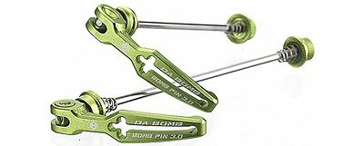 NEW Da Bomb BOMB PIN 3.0 MTB Quick Release Skewers 100/135mm 85g, 4 colours