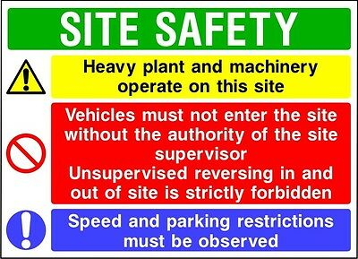 Construction Site Safety Signs - Large / Extra Large - 4mm Correx
