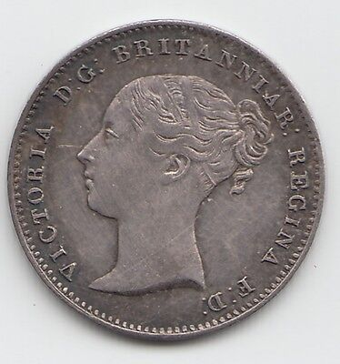 1856 Silver Threepence 3d - Victoria