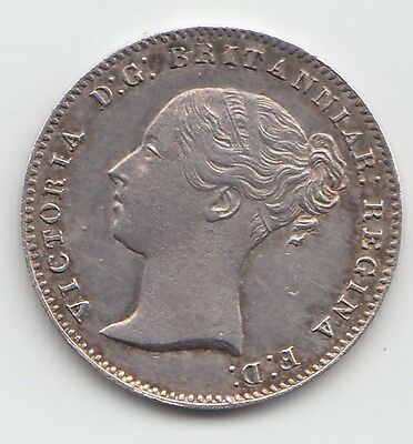 1857 Silver Threepence 3d - Victoria