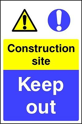Site Safety Signs - 'Construction Site Keep Out' - 4mm Correx - In 3 Sizes