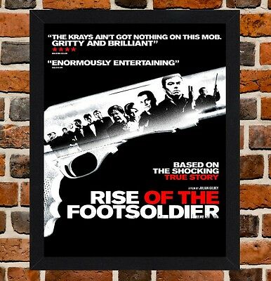 Framed Rise Of The Footsoldier Movie Poster A4 / A3 Size In Black / White Frame