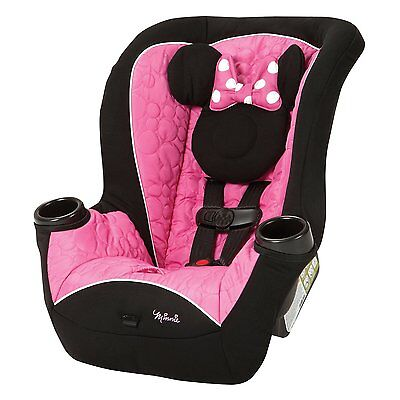 Convertible Baby Car Seat Newborn Rear Facing Toddler Disney Minnie Mouse Pink