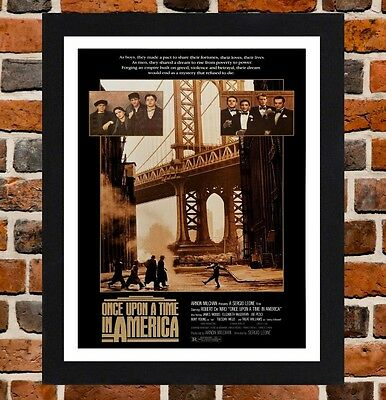 Framed Once Upon A Time In America Movie Poster A4/A3 Size In Black/White Frame