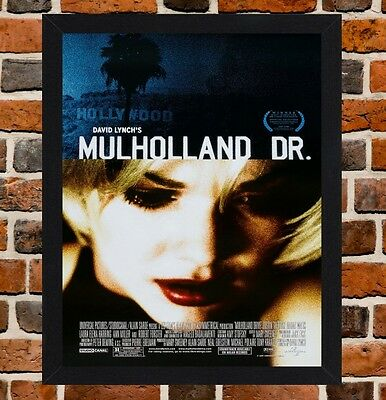 Framed Mulholland Drive Movie Poster A4 / A3 Size In Black / White Frame