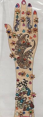 Bollywood Handschmuck Hand Body Sticker Mehndi Bindis Henna Fasching Karneval