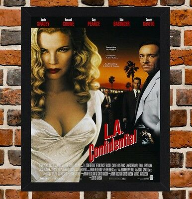 Framed L.A. Confidential Movie Poster A4 / A3 Size In Black / White Frame