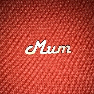 20 x MUM -WOODEN WORDS for MOTHERS DAY WEDDING PLAQUES TAGS SIGNS BOOK ART CRAFT