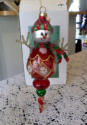 Large Snowman Glass Christmas Ornament Sterling Inc.
