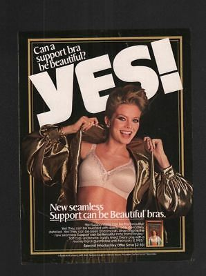 1985 Magazine 8.5x11 Print Ad~Playtex Support Bra~Lingerie~A170