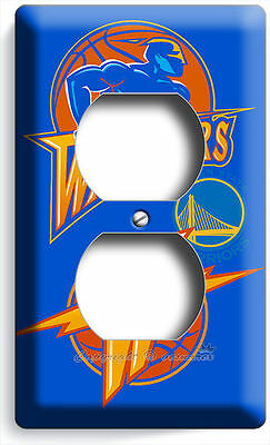 Golden State Warriors Basketball Duplex Electrical Outlet Wall Plate Boys Room