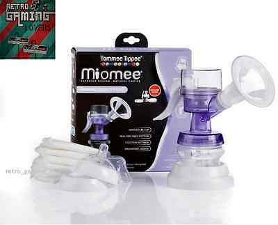 Tommee Tippee Miomee Manual Breast Pump + Bottle & 0m+ Teat + Stand + 6 x Pads