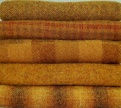 """HAND DYED RUG HOOKING WOOL Mill-Dyed ~ """"AUTUMN HARVEST GOLDS"""""""