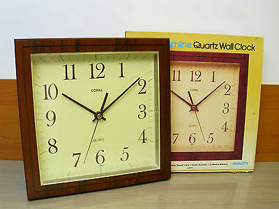 Retro COPAL Slim Line Clock Boxed - Vintage Wall hanging Kitchen Living - Japan