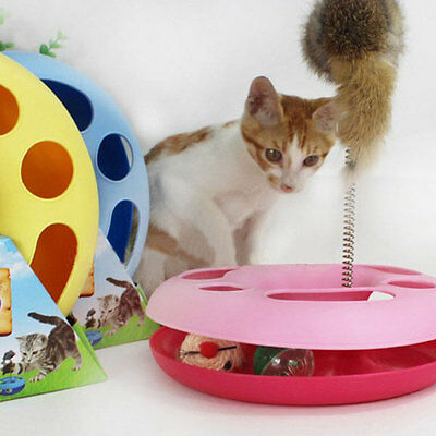 Pet Cat Funny Moving Mouse Spring Mice Ball Turntable Circle Training Toy