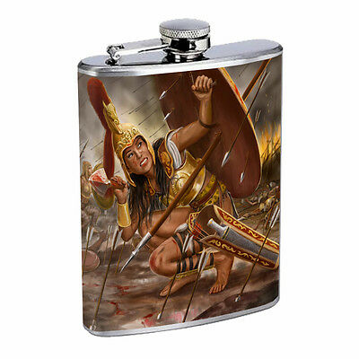 Amazon Warrior Princess D1 Flask 8oz Stainless Steel Hip Drinking Sexy Hero