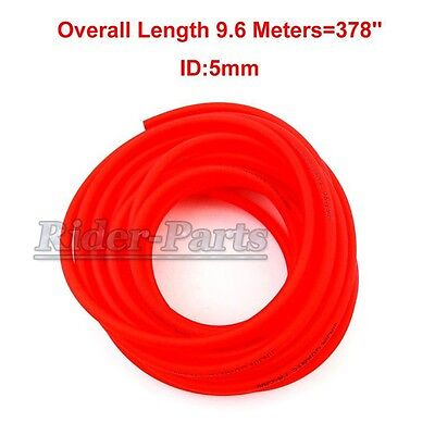 Red Gas Fuel Hose Pipe Tube Pit Dirt Motor Bike Motorcycle ATV Go Kart Buggy