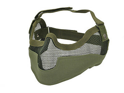 Dragon Full V2 Mesh Mask Od Green With Ear Protection Airsoft