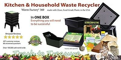 Worm Composter Garden Yard Leaves Tidy Plant Food Tools Composting Effective