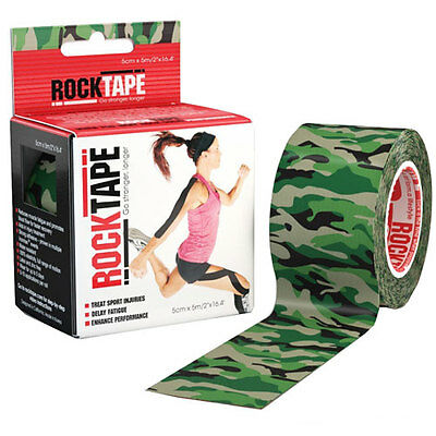 Rocktape 5cm X 5m Unisex Accessory Kinesiology Tape - Green Camouflage One Size