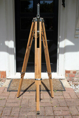 Stained Rosewood Aluminium Nickel Tripod For Strand 23 & 123 Theatre Light Lamp