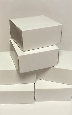"6 x WHITE CAKE BOXES 6"" Inch SQUARE Food Treat Sweets Gift Festive Cookies"