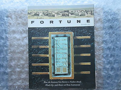 Old November 1961 Fortune Magazine Sol Mednick Semiconductor Cover