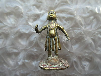 Antique Cast Brass Middle Eastern Figurine God Diety