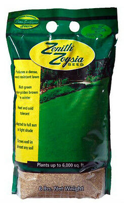 Zenith Zoysia Grass Seed 100% Pure Seeds 6 Lbs. (TESTED 2017)