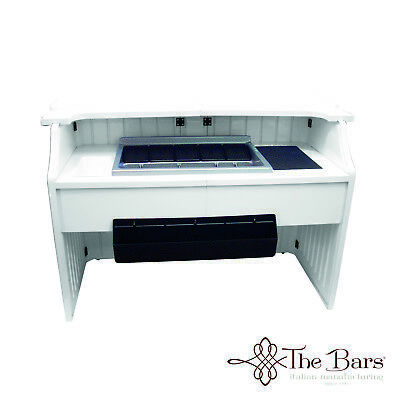 Banco bar Catering COMPLETO Barman colore bianco in Abs CB002G Station barman