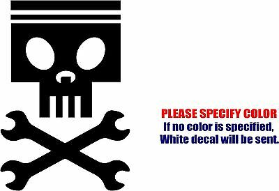 Vinyl Decal Sticker - Planes Dusty Skull Wrenches Car Truck Bumper JDM Fun 7""