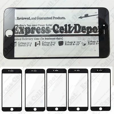 5X lot BLACK iPhone 6/6S PLUS replacement front lcd outer screen glass