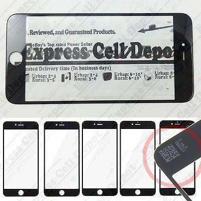 5X Wholesale Lot replacement front lcd outer screen glass for BLACK iPhone 6/6S