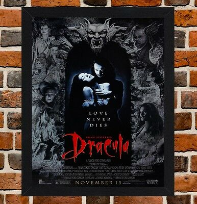 Framed Dracula Movie Poster A4 / A3 Size In Black / White Frame (Version-1)
