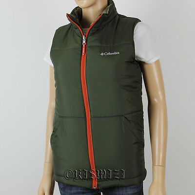 """NEW COLUMBIA BOYS """"Ice Chips"""" REVERSIBLE VEST SZ: M-L NWT."""