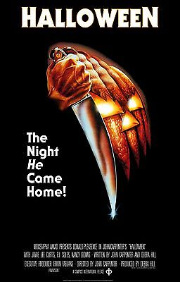 """HALLOWEEN (1978) Movie Poster """"The Night he Came Home"""" -  Michael Myers"""