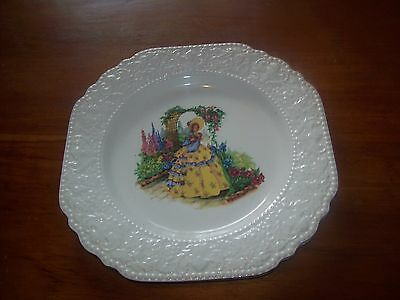 Lord Nelson Ware/Elijah Cotton CRINOLINE LADY - Luncheon/Salad Plate - 9.5""