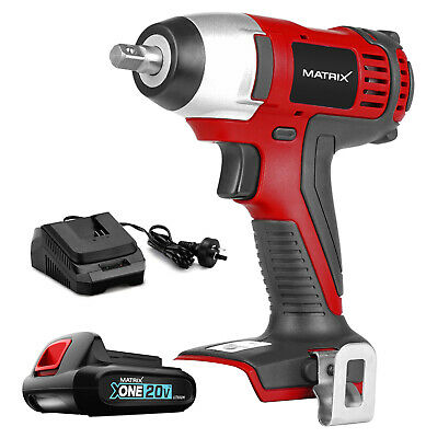 "NEW MATRIX 20v Cordless Impact Wrench 3/8"" rattle gun KIT (incl battery&Charger)"