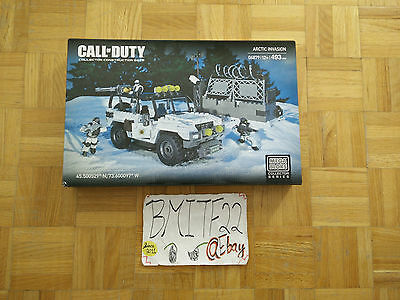 Mega Bloks Call Of Duty Arctic Invasion 06879 Building Toy 493 Pcs New
